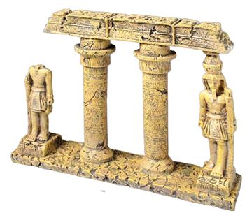COLONNE EGYPTIENNE CASSE 23X5,5X18