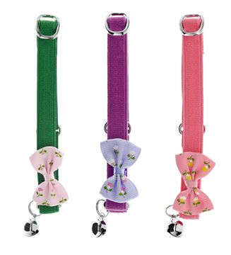Εικόνα της DISPLAY CAT COLLARS FLOWERS 9PCS