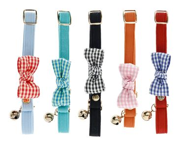 Εικόνα της RIBBON CAT COLLAR VICHY 10PCS.