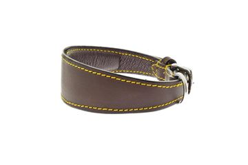 Εικόνα της BROWN STUFFED GREYHOUND COLLAR   CM