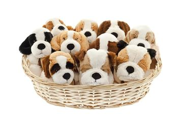 BASKET W. 10 DOGS
