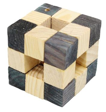 HAMSTER WOODEN CUBE TOY 5,5X5,5CM