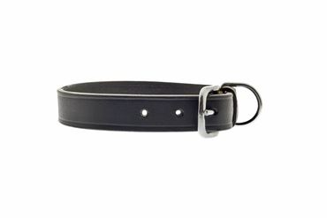 BLACK OLD LEATHER COLLAR