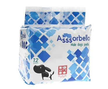 DIAPERS FOR MALE DOGS 55CM 12X12PCS