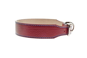 ALBERTO LEATHER COLLAR 3,8X45-55CM