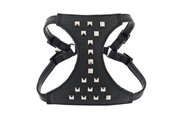 Bild von LEATHER HARNESS SPIKE WITH LEASH