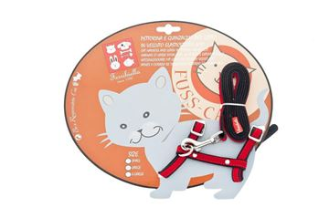 Bild von HARNESS AND LEASH CAT ELASTICIZED VELVET ECO