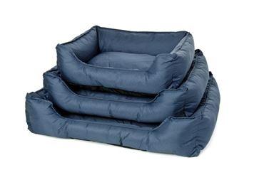 DOG BED OXFORD WATERPR. 75X58X19CM BLUE