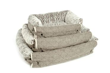 DOG BED SOFA SOFT 107X70X14 CM GREY
