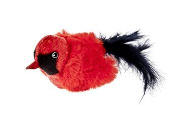 Bild von CIP-CIP RED BIRD W/FEATHERS 8CM