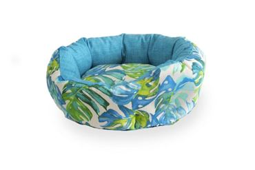 3 OVAL TROPICAL DOGBEDS 40-50-60CM LIGHT