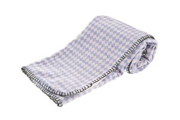 ROMBI BLANKET LIGHT BLUE 100X70CM
