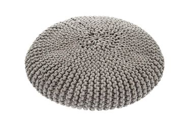 OFF MACRAMÉ POUF DOG BED 60X15CM GREY
