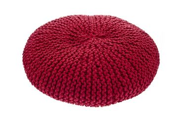 Bild von OFF MACRAMÉ POUF DOG BED 60X15CM RED