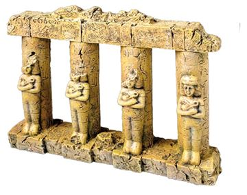 OFF COLUMNS WITH STATUE 23X5,5X18CM