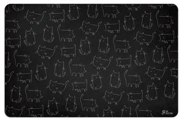Εικόνα της BLACKBOARD CATS MAT 43X28CM