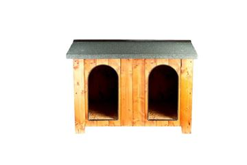 Изображение DOUBLE CHALET KENNEL 150X110X90HCM