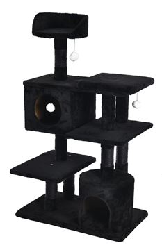 BLACK MODULAR CAT TREE 65X40X111CM