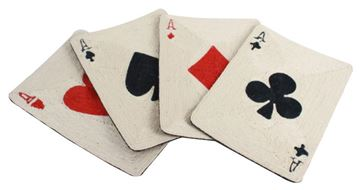 4 ACE POKER SCRATCH MAT 49X35X0,5CM