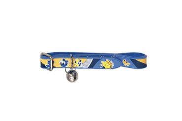 RUBBER CAT COLLAR 1,2X30CM BLUE